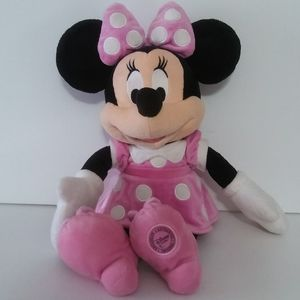 "Minnie mouse pink dress plush disney doll 16"""